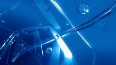 蓝色水滴视频背景