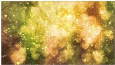 金色心形梦幻光斑背景