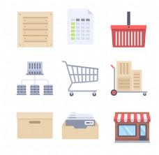 扁平购物图标ICON