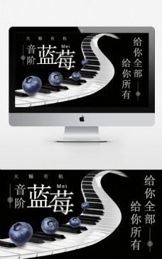 夏日蓝莓banner