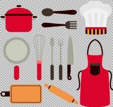 各种厨具免抠png透明图层素材