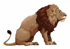 坐狮的侧面图
