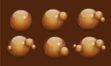 三维球面设计,抽象几何元素集。