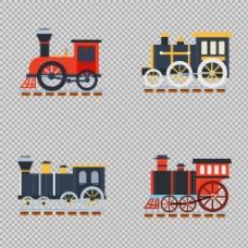 复古风格火车插图免抠png透明图层素材