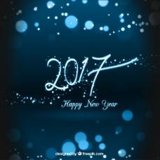 布鲁斯新年快乐2017背景