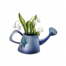 花朵水壺元素