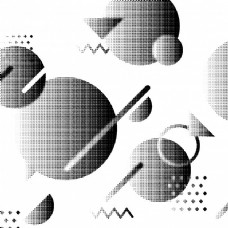 创造性的抽象几何背景,半圆形效果,三角形和线条。