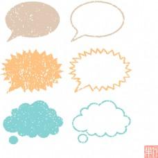 卡通对话框设计素材合集