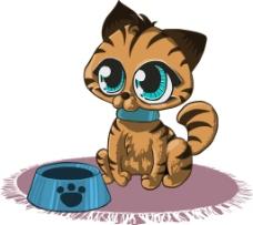卡通猫咪食物素材