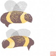 可爱蜜蜂设计素材