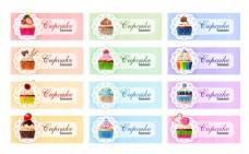卡通蛋糕标签图片