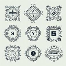 华丽装饰Logo设计矢量