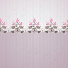 喇叭花粉灰色花纹VI卡片矢量