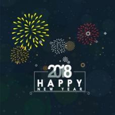 2018新年烟花背景图
