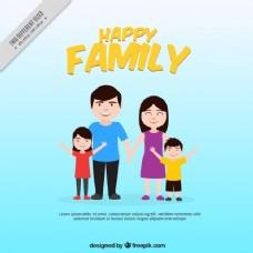 微笑家庭背景