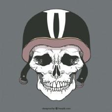 骷髅背景骑士头盔