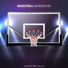 篮球筐现代背景