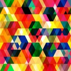 五彩六边形几何背景