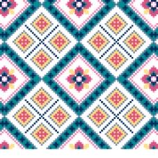 抽象像素效果花纹针织图案背景