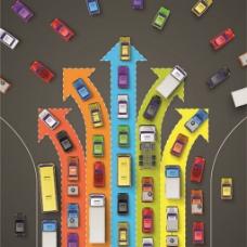 城市道路交通方向矢量图