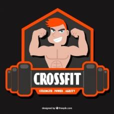 随着CrossFit的贴纸背景