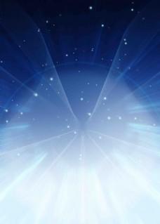 星光扩散蓝色背景素材