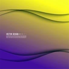 紫黄色流线背景图片