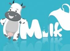 milk牛奶广告背景