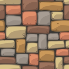 五颜六色的砖墙纹理图案背景