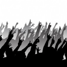 摇滚音乐会的剪影