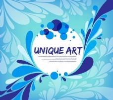 蓝色花纹装饰图案