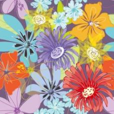 创意手绘花卉背景