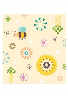 卡通蜜蜂装饰图案