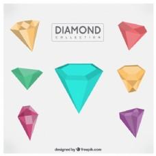 彩色几何钻石包