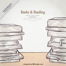 本书的素描背景