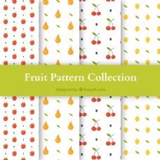 四种不同水果的图案