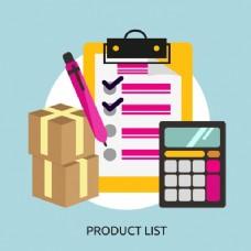 产品列表的背景