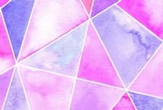 水彩绘几何背景