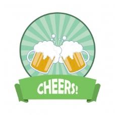 啤酒的徽章设计