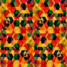 重叠的六角形几何抽象背景