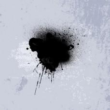背景黑墨水