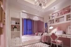 美式公主范卧室书房装修效果图