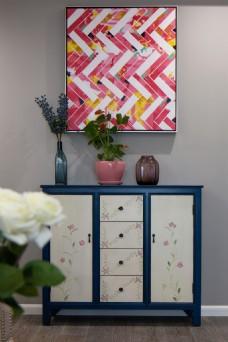 现代美式客厅软装效果图