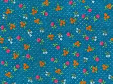 彩色小花蓝色背景布纹壁纸图案图片素材下载