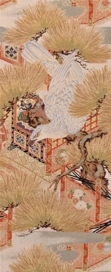布纹松枝古城背景图