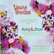 花卉婚礼牌