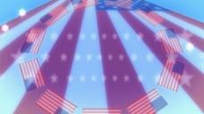 美国国旗元素视频设计