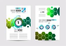 绿色六边形圆环画册图片