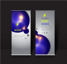 紫色泡泡展架背景图片