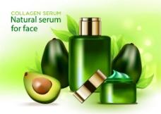鳄梨绿色化妆品海报图片
